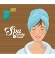 spa beauty and health woman blue towel vector image