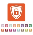 The shield icon Security symbol Flat vector image