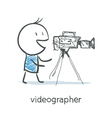 Videographer vector image
