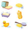 Bathroom accessories vector image vector image