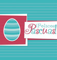 funky spanish easter egg card in format words vector image