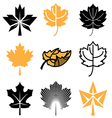 logo icons mapleleaf vector image vector image