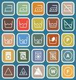 Laundry flat icons on blue background vector image