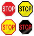 stop road sign variation vector image