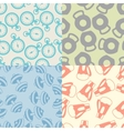 Seamless patterns of sport icons vector image