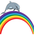 dolphin and rainbow vector image vector image