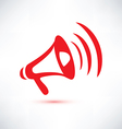 megaphone loudspeaker isolated symbol vector image