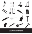 home kitchen cooking utensils icon eps10 vector image vector image