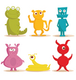 monsters cartoons vector image