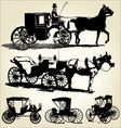 carriage silhouettes vector image vector image