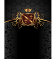 gold vintage with heraldic elements - vector image vector image