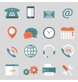 Contact us flat icons vector image