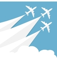 poster with airplanes vector image