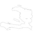 Black White Haiti Outline Map vector image vector image