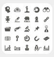 Business and finance icons set vector image