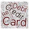 College Grads Wave Goodbye To Credit Card Debt vector image