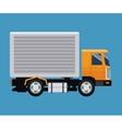 delivery concept truck transport blue background vector image