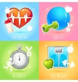 Healthy lifestyle set vector image