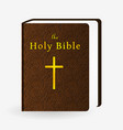 holy bible vintage leather brown book vector image