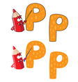 letter P pencil vector image