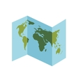 Planet map earth world sphere icon graphic vector image