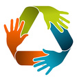Recycle teamwork concept design vector image