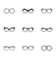 safety glasses icons set simple style vector image