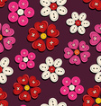 Seamless pattern of button flowers vector image