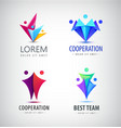 Abstract stylized family team lead icon vector image