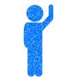 child hello grunge icon vector image