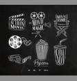 cinema signs chalk vector image