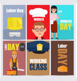 International labor day themed set vector image