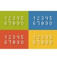 Set of flat pixel numbers vector image