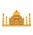 Taj Mahal isolated on white vector image