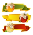 Honey origami banners vector image