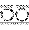 set of patterns and rings stencils vector image