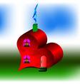 house like heart vector image