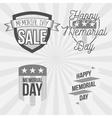 Memorial Day vintage Labels Set vector image