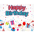 Birthday Celebration background with party icons vector image vector image