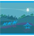 Biblical scene - birth of Jesus in Bethlehem vector image