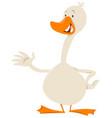 cute goose bird animal character vector image