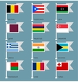 Flags set four-02 vector image