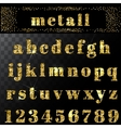 gold glitter alphabet Hand drawn letters vector image