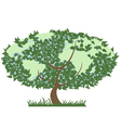 green earth tree vector image