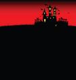 halloween castle red vector image