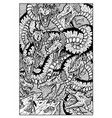 hydra water serpent monster engraved fantasy vector image