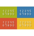 Set of flat pixel numbers vector image