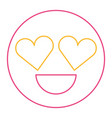 smile emoticon heart shape eyes love vector image