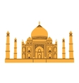 Taj Mahal isolated on white vector image