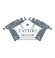 tattoo tool logo simple gray style vector image
